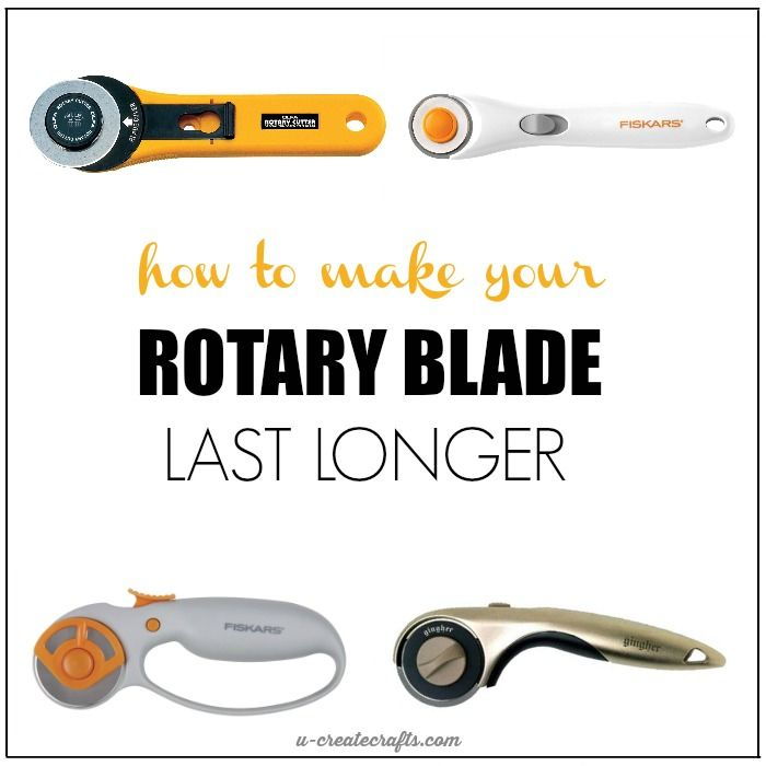 In two simple steps you can lengthen the life of your rotary blade. How to Sharpen Your Rotary Blade.