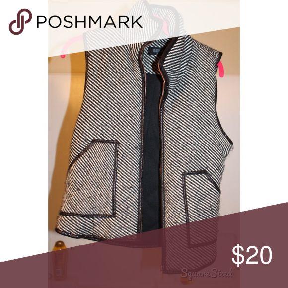 black and white vest! black and white striped vest Jackets & Coats Vests