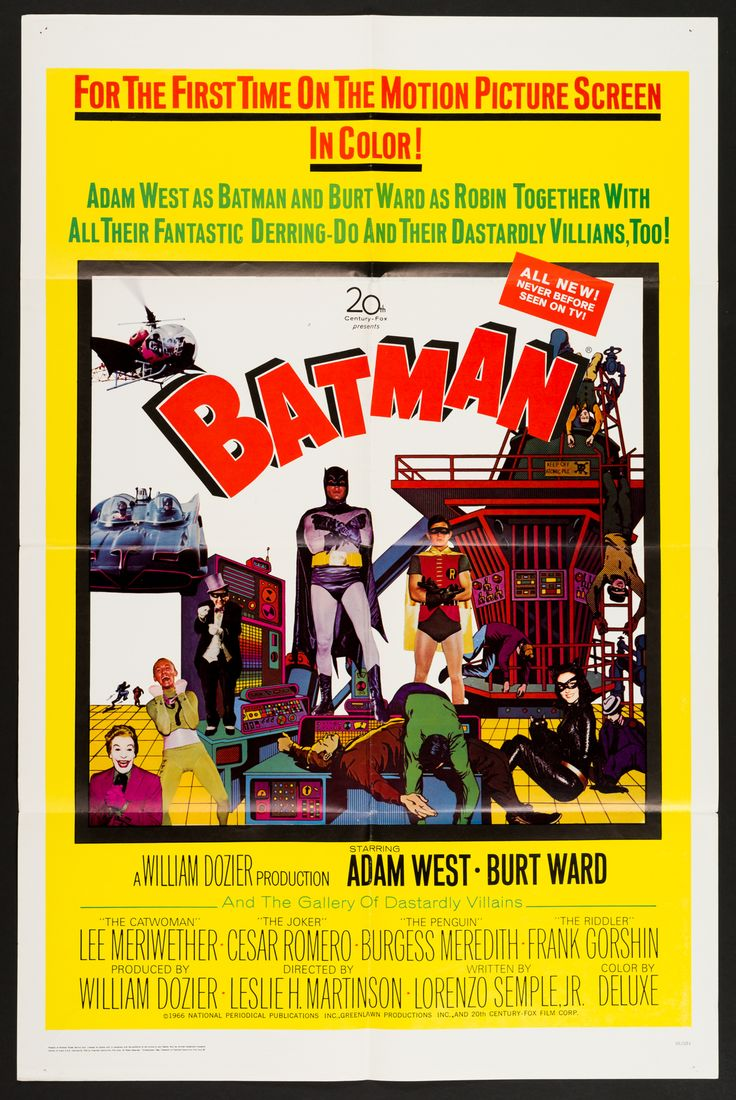 BATMAN (1966) Kaaapow! Holy feature film, Batman based