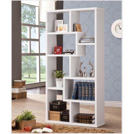 1PerfectChoice White Multiple Cube Rectangular Bookshelf