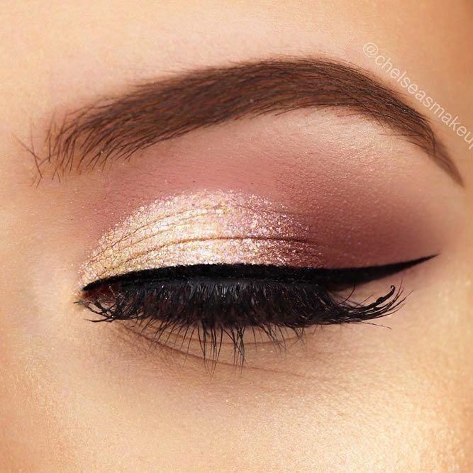 100 Stunning Eye Makeup Ideas Brighter Craft In 2020 Rose Gold Eye Makeup Gold Makeup Looks Gold Eye Makeup