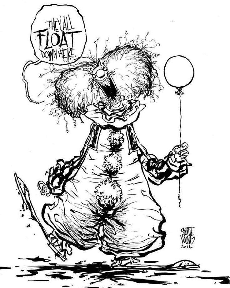 It Pennywise Clown Coloring Pages Sketch Coloring Page