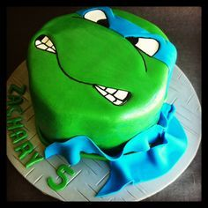Bolos decorados Tartarugas Ninja - http://www.boloaniversario.com/bolos-decorados-tartarugas-ninja/