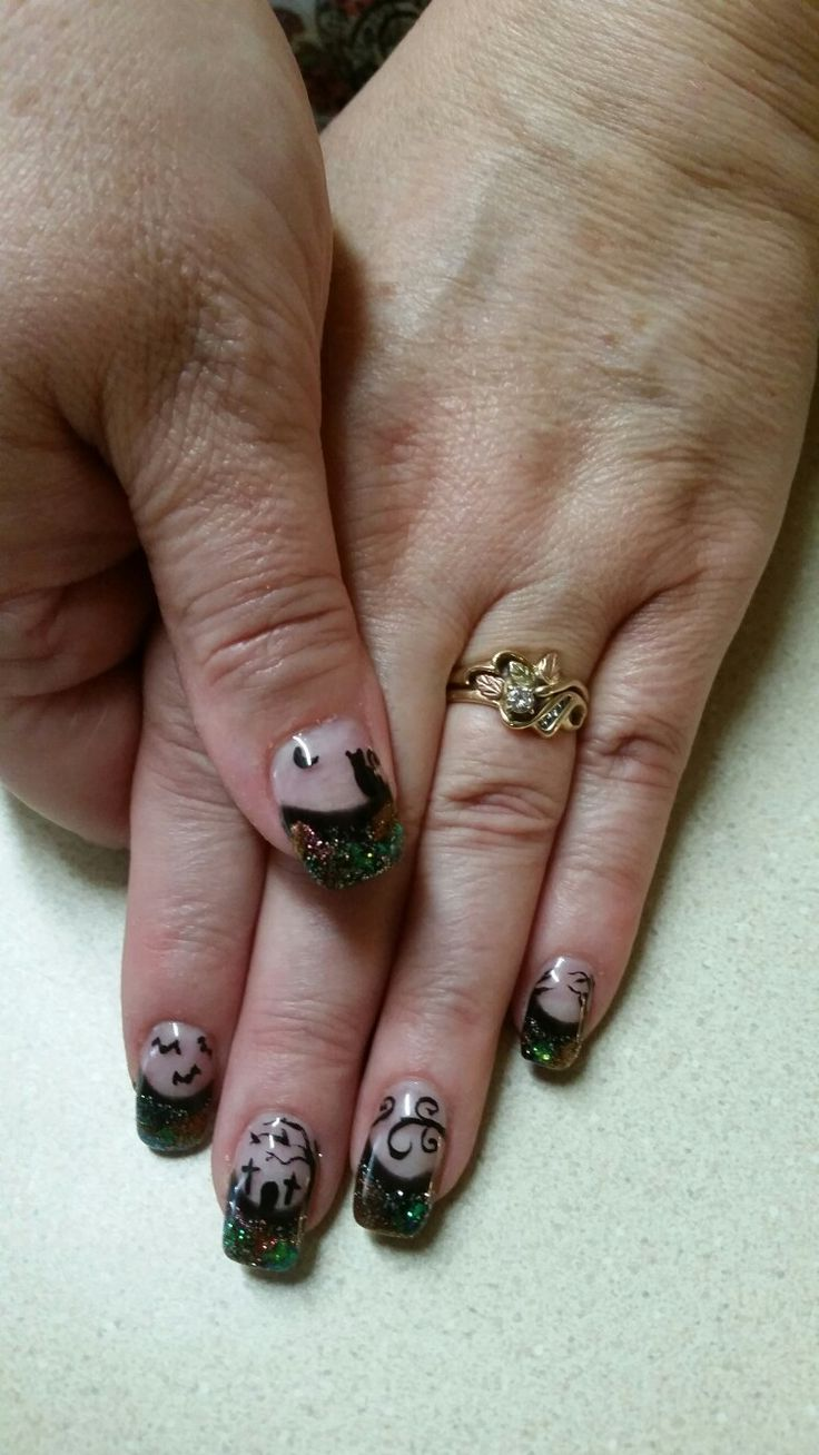 Halloween nails 2016