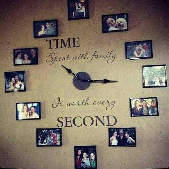 family picture clock - I absolutely love this.