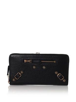 Balenciaga Women's Classic Continental Wallet, Nero