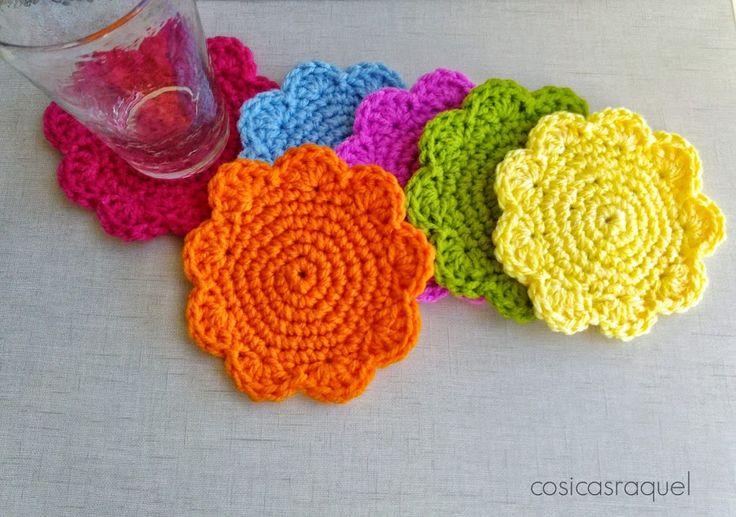 M s de 1000 ideas sobre posavasos de crochet en pinterest - Posavasos de ganchillo ...