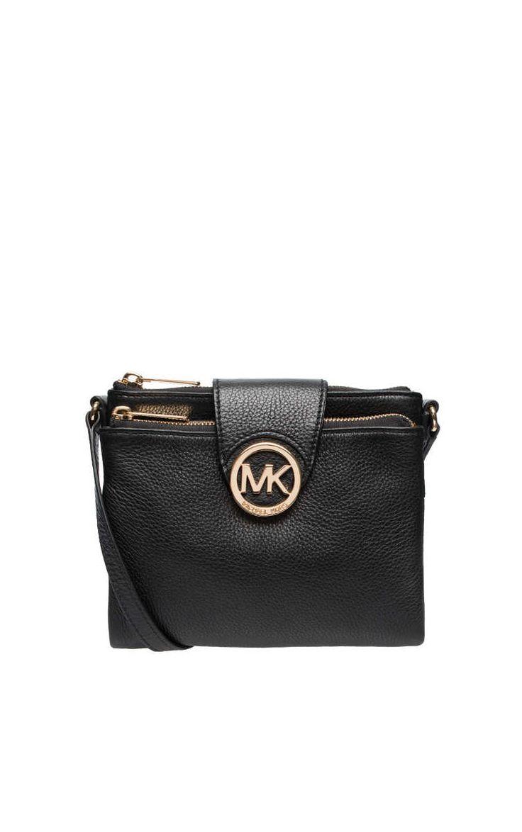 Väska Fulton LG Crossbody BLACK/GOLD - Michael - Michael Kors - Designers - Raglady