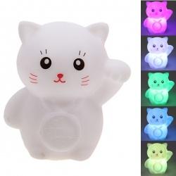 Seven Color Changing Light Maneki Neko Shape Small LED Novelty Lamp