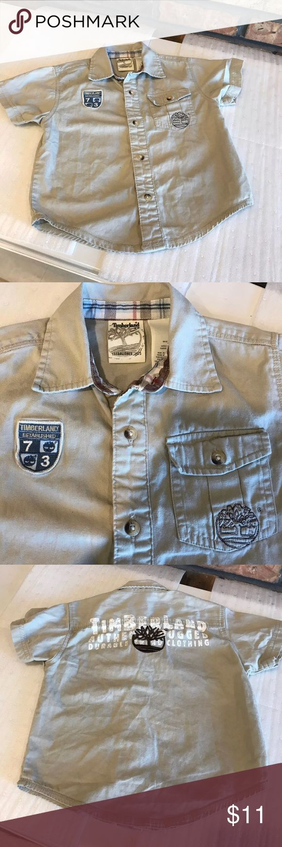 Timberland Boys Shirt Polo By Ralph Lauren Boys Shirt Size: 3T Color: Khaki  Condition: Pre-owned, lightly worn, no stains or rips Timberland Shirts & Tops Button Down Shirts