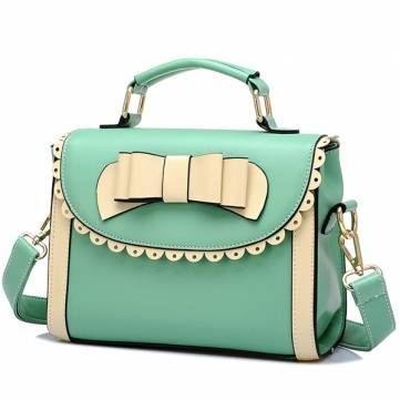 This is a fashion bag, it can be used as a Portable Handbag as well as a Shoulder Bag. Decorated with a bow unique design, it can make you the focus in any occasion.
