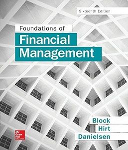 Foundations of Financial Management 16th Edition Test Bank Block Hirt Danielsen free download sample pdf - Solutions Manual, Answer Keys, Test Bank