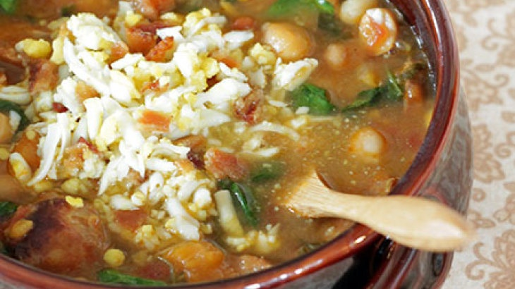 Spanish Chickpea and Chorizo Soup | Braces-friendly Foods | Pinterest