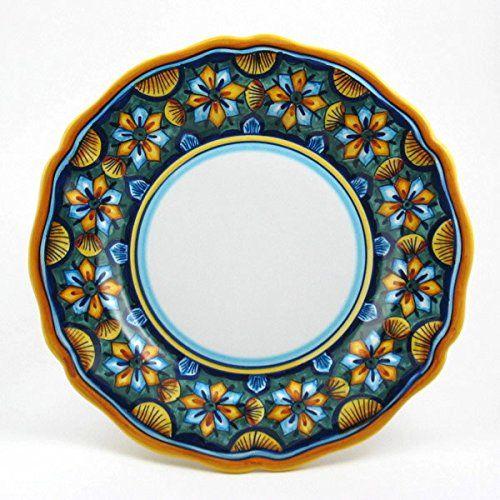 Hand Painted Italian Ceramic 11-inch Dinner Plate Scallop Rim Geometrico 06E - Handmade in · Italian PotteryDinnerware SetsDinner ...  sc 1 st  Pinterest & 18 best Italian dinnerware images on Pinterest   Flatware Dinner ...