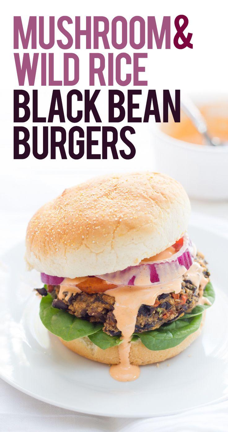bean burgers.: Black Beans Burgers, Black Bean Burgers, Wild Rice ...