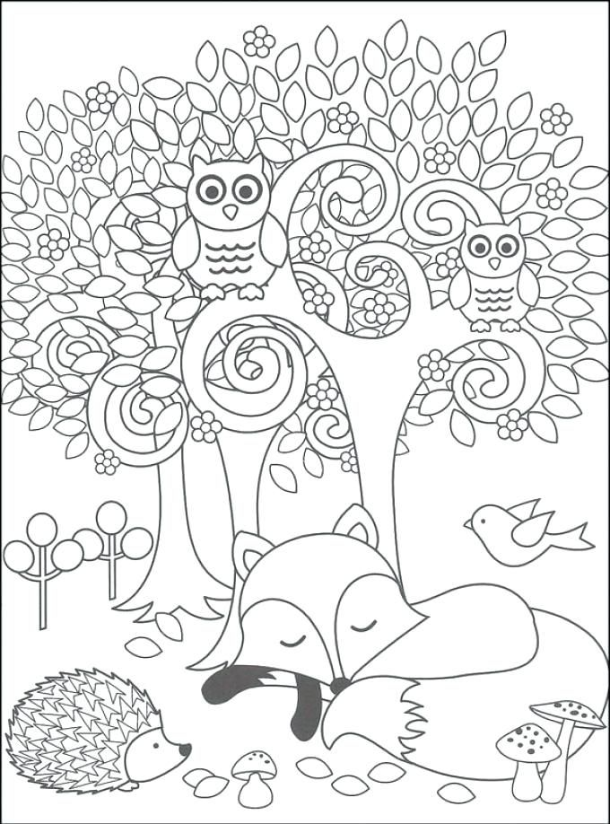 Woodland Animals Coloring Pages Woodland Animals Coloring