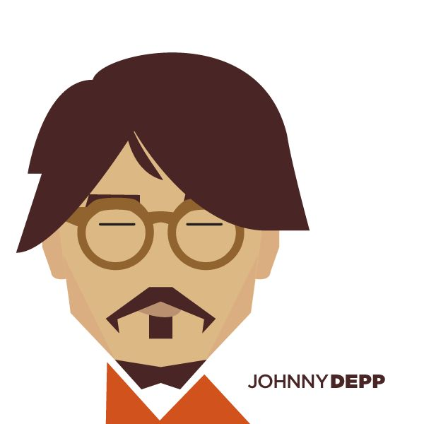 Illustration - Johnny Depp - Simple yet very recognizable illustration - also of other celebs