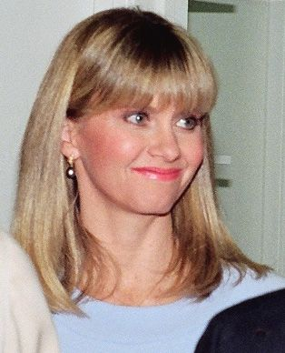 Olivia Newton-John at the opening of a Koala Blue store in 1988