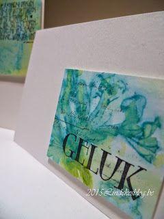 Watercolor gift cards -  Aquarel geschenkenkaartjes
