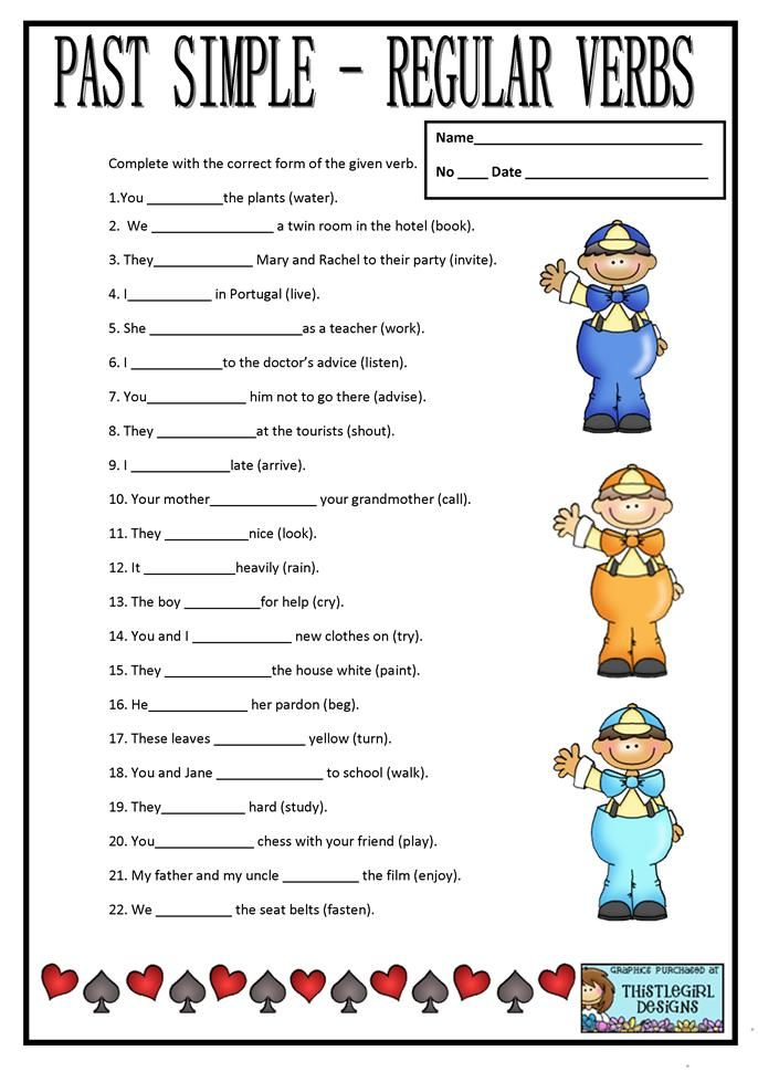PAST SIMPLE REGULAR VERBS - English ESL Worksheets For Distance Learning  And Physical Classrooms In 2020 Past Tense Worksheet, Regular Verbs,  Regular Past Tense Verbs