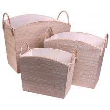 Bamboo Baskets - Set of Three - White £99.99