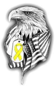 eagle dog tag flag tattoo yellow ribbon