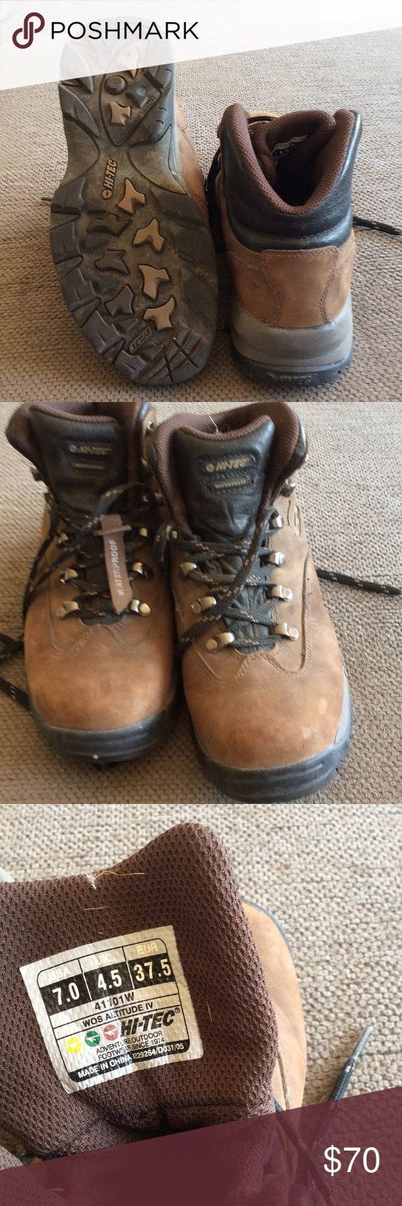 Hiking boots Very comfy and used a few times they are waterproof Hi-Tec Shoes