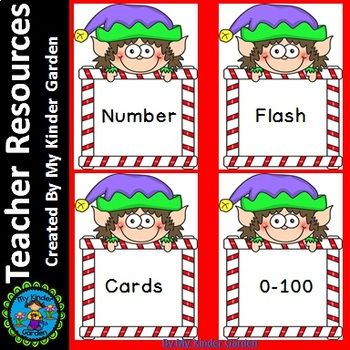 Here is a set of elf number flashcards 0-100 that can be used to help with number recognition. They can be used at center time or any other time to help students practice number recognition, counting, and number sequence, and much, much more. If you like this product please visit my TPT store for