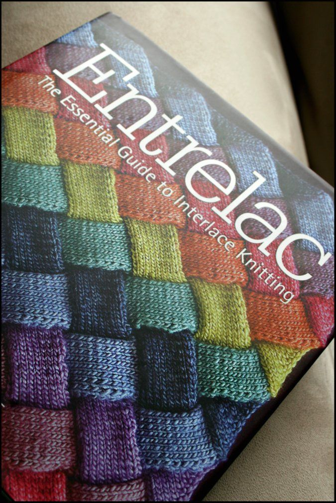 I'm addicted to knitting books and rainbows-- an Entrelac book addiction logically follows.