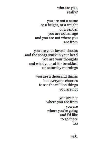 You are..