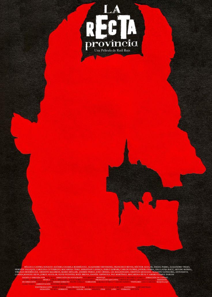 """Afiche: """"La Recta Provincia"""" con técnica de figura y fondo."""