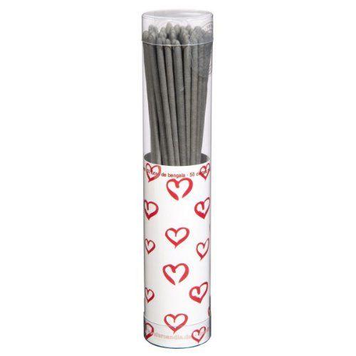 """Wunderkerzen """"Herz"""", 50 St. - Wunderkerzen in Verpackung mit Herzmotiv perfekt zur Hochzeit, Valentinstag oder Geburtstage: Amazon.de: Küche..."""