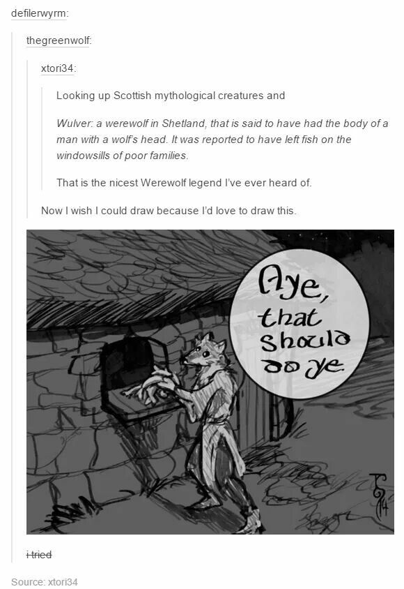 Scottish werewolf! Too funny