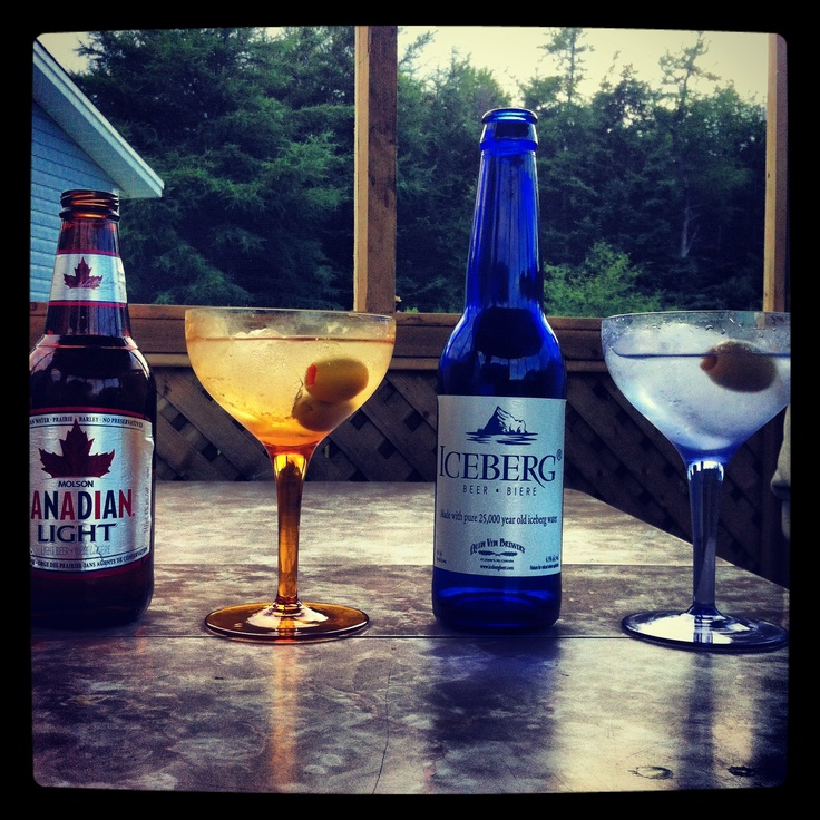 Martinis, made with iceberg ice, and a coupla beers. #ExpediaThePlanetD
