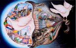 """Visison of Peace"" 2010-2011 Grand Prize Winner, by 11-year-old Raj Phairembam of India"