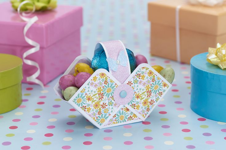 Pretty Easter egg basket from Papercraft Inspirations 150