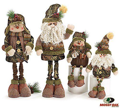 Adorable Mossy Oak Christmas Santa and Snowman Hunter ...