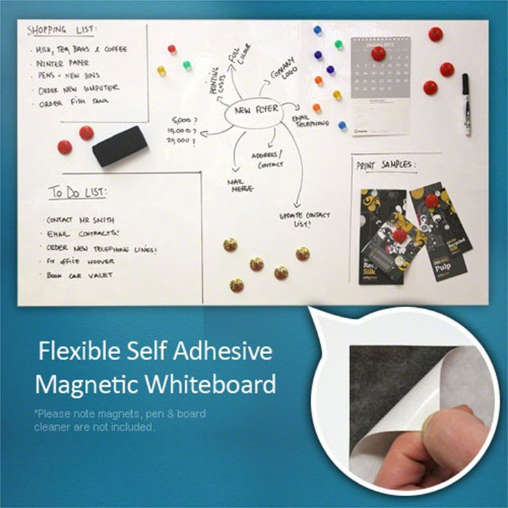 Flexible Magnetic Whiteboard Sheet - Home & Office (1000 x 620mm)…