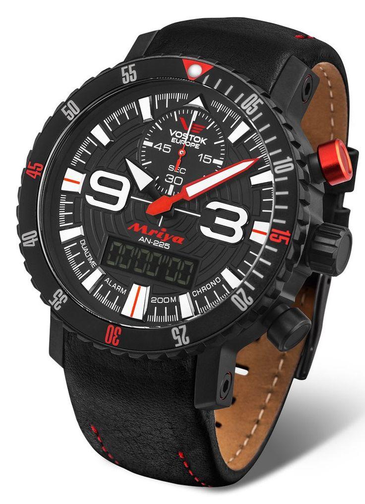 Vostok Europe AN-225 MRIYA ANADIGI Black/Red Watch 9516/5555250