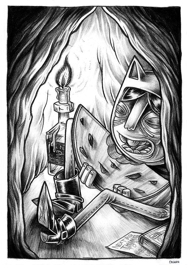 Frantic Drawings 2013 by Niklas Coskan, via Behance
