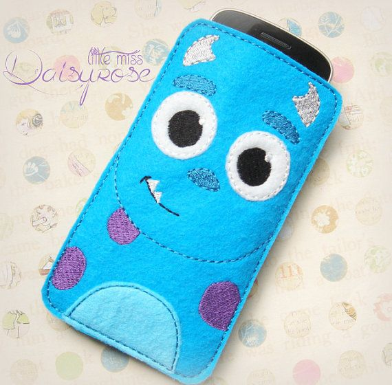 BLUE MONSTER CASE device case, iphone case, cell phone carry case, felt phone…