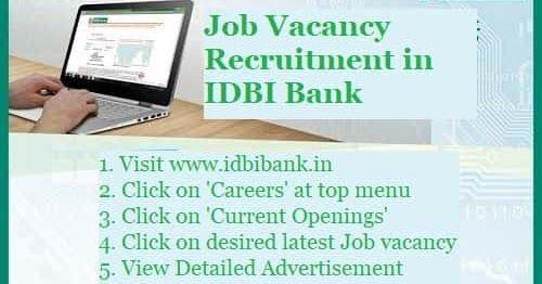Recruitment Of Specialist Officer Job Vacancy In Idbi 2019 Idbi