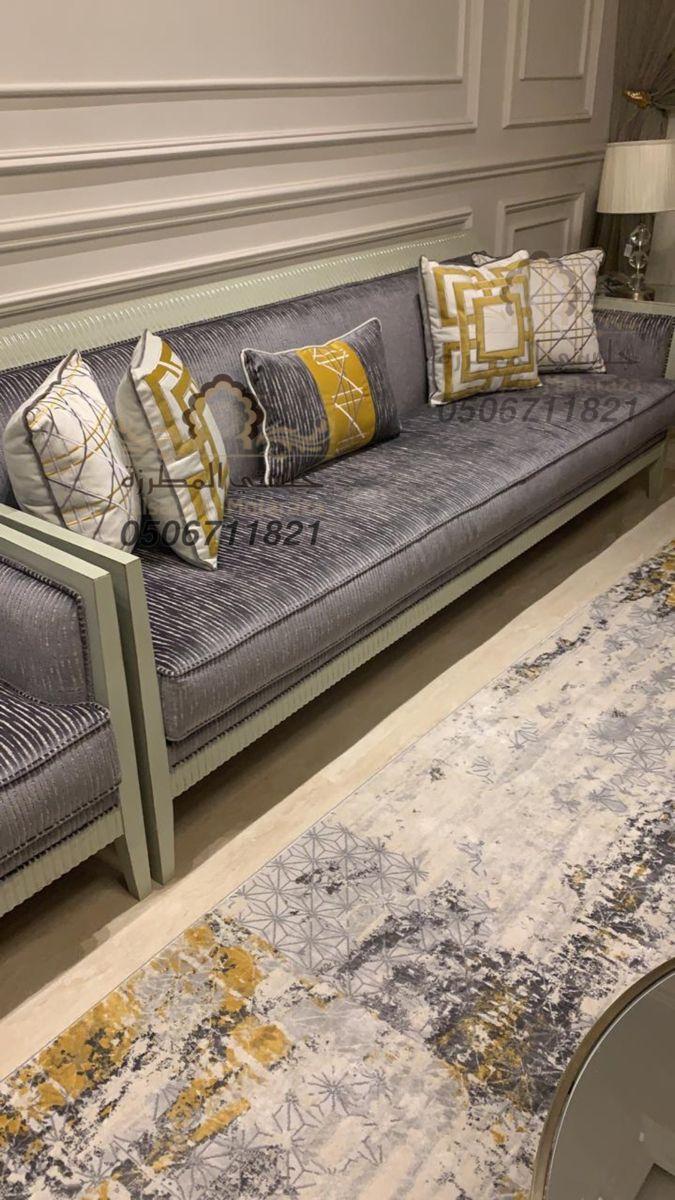 كنب فاخر من تصميم وتنفيذ جلستي المطرزة جوال التواصل 0506711821 Living Room Decor Room Decor Living Room Decor Apartment