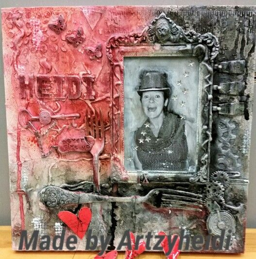 """Mixed media on Canvas. My DT assignment for Gode Minner. """"This is Me!"""""""