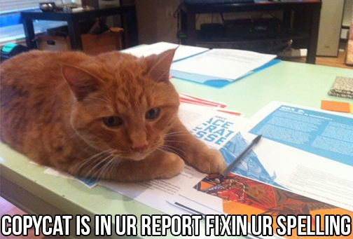 Copycat iz on ur free expreshun report, shaping ur rulez 4 sharing and collaborating in the 21st centuree.