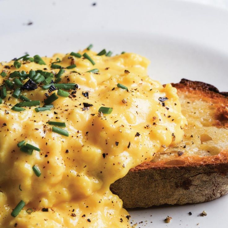 """Scrambled Eggs - Gordon Ramsay has a simple test for new cooks in his kitchens: """"If they can make the perfect scrambled eggs you know they know how to cook properly."""" I was brought up on scrambled eggs, with the scramble more to do with scrambling about in the morning before school, minimising a calm and leisurely breakfast time. Whether the eggs were fluffy or knobbly was neither here nor there. They were breakfast, and there was no dispute: mum cooked, we ate. What we had was the flavour…"""