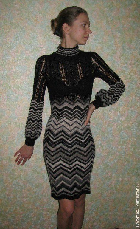 Купить Платья в стиле Миссони - в полоску, ольга мазина, платье, зиг-заг, миссони