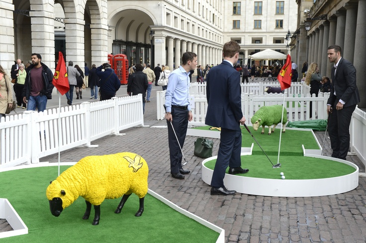 Lyle & Scott are supporting The Campaign for Wool by 'putt-ing' on a woolly golf extravaganza outside their store:Covent Garden, London: Friday 19th Oct to Sunday 21st Oct. Friday 19th Oct & Saturday 20th Oct: 12pm -6pm and Sunday 21st Oct: 12pm - 4pm It's FREE!! to take part and there's 15% off in store for everyone who takes part, and the chance to win £500 of Lyle & Scott goodies.