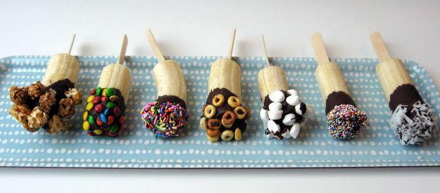 Tiny Trychtýř: Frozen Chocolate Banana Pops