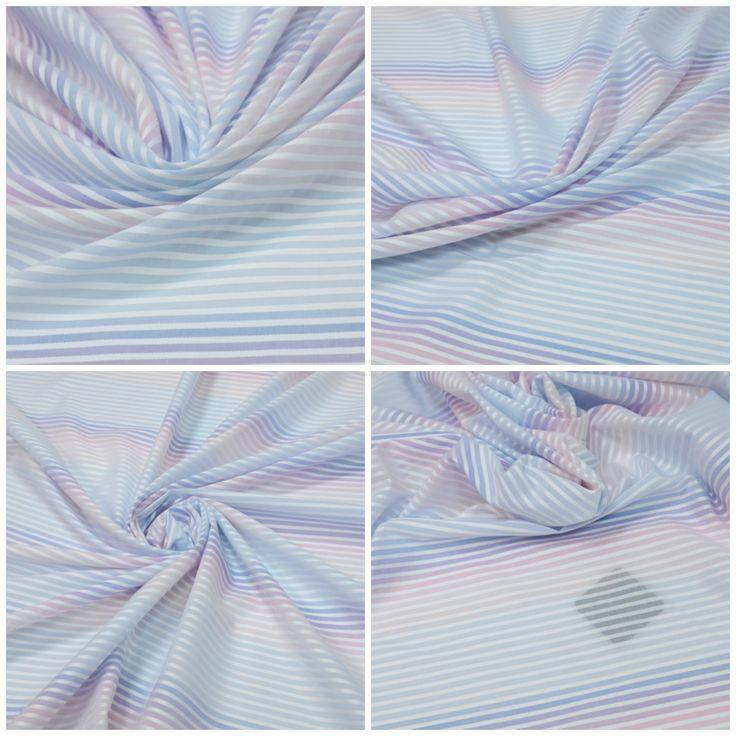 Блузочная ткань арт. 12-001-0511 Ширина: 147 см, плотность: 115 г/м2 Состав ткани: 100% хлопок Цвет: Белый.Голубой.Синий.Пурпурный. #хлопок#блузочная#голубой#tutti-tessuti